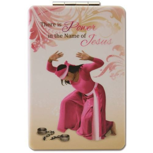 Power in the Name of Jesus Compact Mirror
