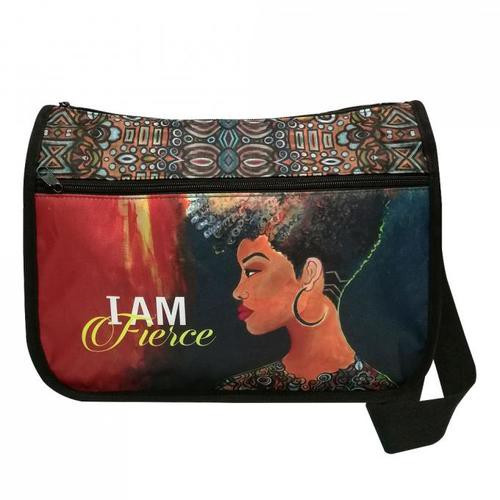 I AM FIERCE CROSSBODY BAG