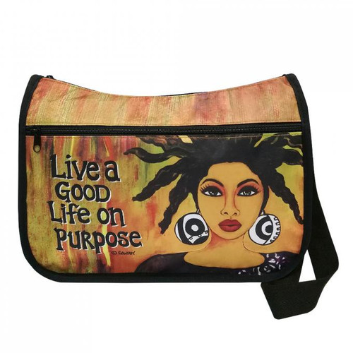 LIVE A GOOD LIFE ON PURPOSE CROSSBODY BAG