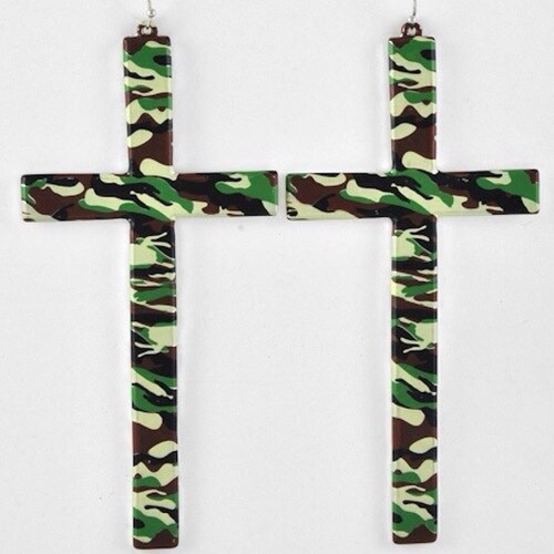 401839 Camouflage Earring Set
