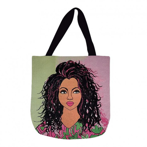 AM AMBITIOUS WOVEN TOTE BAG