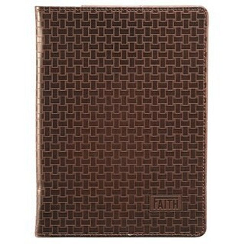 "BROWN BASKETWEAVE ""FAITH"" INSPIRATIONAL COVER FOR KINDLE FIRE (DOES NOT FIT KINDLE FIRE HD) KFR003"