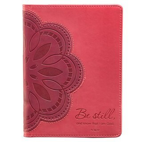 PINK FLOWER APPLIQUE INSPIRATIONAL COVER FOR KINDLE FIRE - PSALM 46:10 (DOES NOT FIT KINDLE FIRE HD KFR004