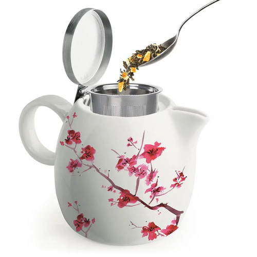 Tea Forte Cherry Blossom teapot  open