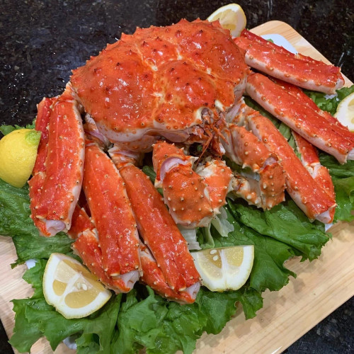 Whole King Crab Pre-Cooked Frozen- approximately 6.6 lb / 3Kg