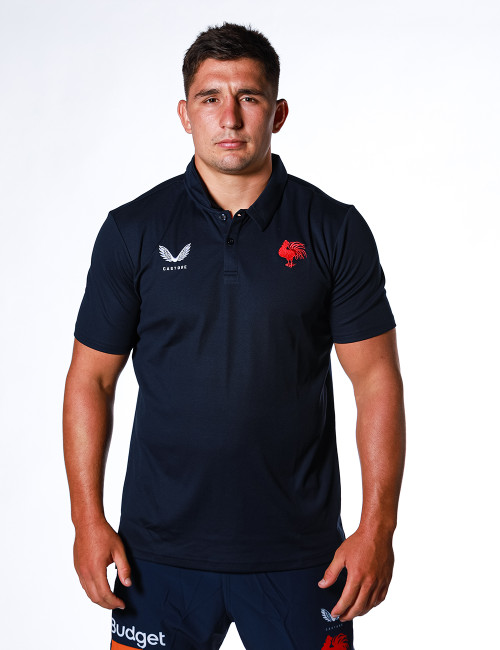 Sydney Roosters 2021 Castore Mens Travel Polo Navy