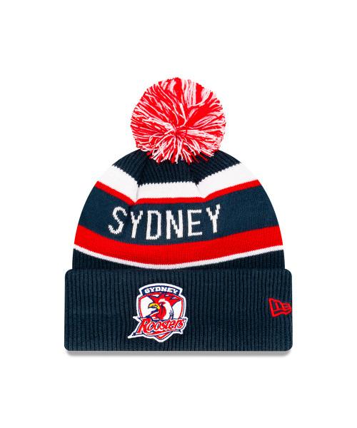 Sydney Roosters New Era 6Dart Core Pom Knit Beanie