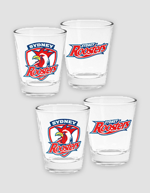 Sydney Roosters Shot Glasses 4-Pack