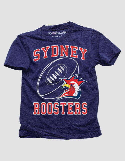 Sydney Roosters Kids Wes & Willy Double Hem Tee