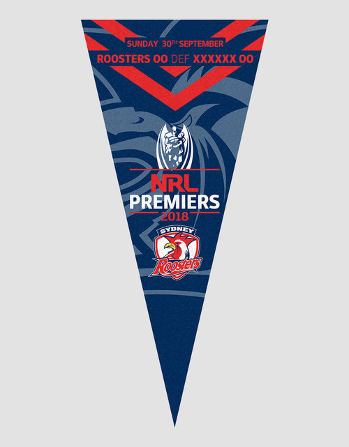 Sydney Roosters 2018 Premiers Pennant Flag
