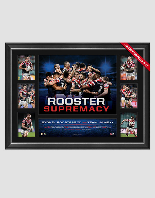 Sydney Roosters 2018 Premiers Supremacy Tribute Framed