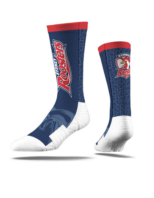 Sydney Roosters Strideline Wordmark Crew Socks