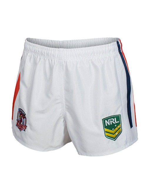 Sydney Roosters Mens Classic Supporter Shorts White