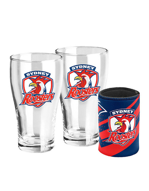 Sydney Roosters Pint Glasses and Cooler Set