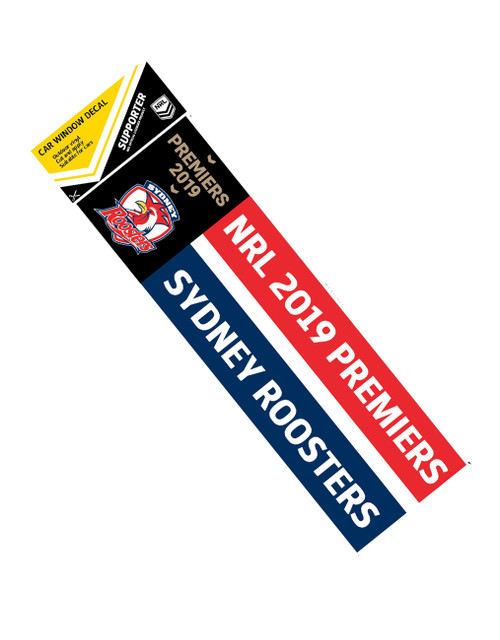 Sydney Roosters 2019 Premiers Car Window Decal