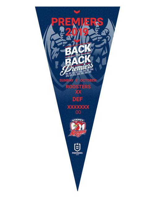 Sydney Roosters 2019 Premiers Pennant