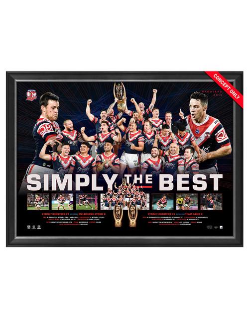 Sydney Roosters 2019 Premiers Sportsprint Unframed