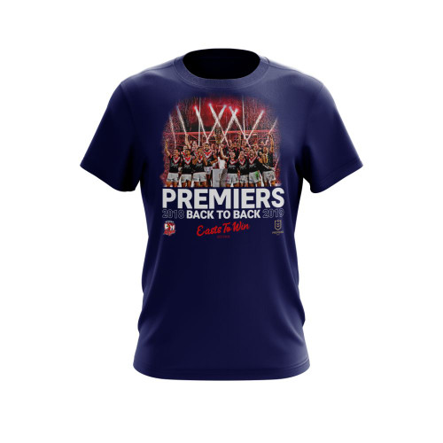 Sydney Roosters 2019 Classic Mens Premiers Photo Tee