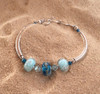 Delaware Beaches® Three Bead Tube Bracelet