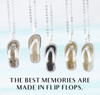 DELAWARE BEACHES® Sterling Silver Flip Flop Dune Sand Necklace