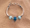 Delaware Beaches® (no label) Three Bead Tube Bracelet