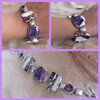 Purple Topaz and Quartz Sterling Silver Bracelet
