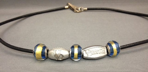 Murano Glass, Blue & Gold Bead