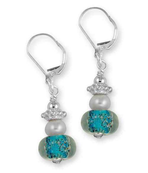 Delaware Beaches® Capri Sand Encased Earrings with Pearls