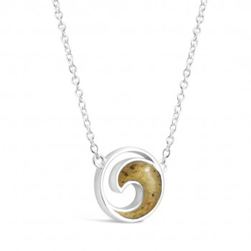 Sterling Silver Dune Wave Necklace Stationary