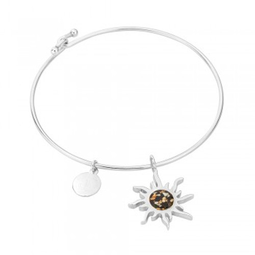 Dune Sand Sterling Silver Sunburst Bangle - You Pick the Sand! Over 3,800 Sands Available