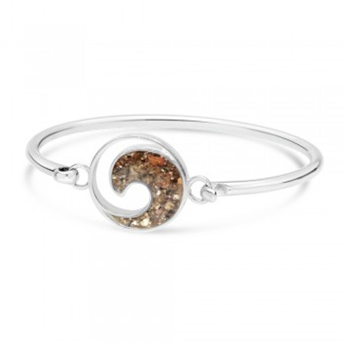 Dune Sand Sterling Silver Wave Bracelet - You Pick the Sand! Over 3,800 Sands Available
