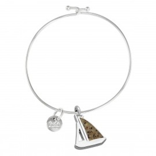 Dune Sand Sailboat Bangle - You Pick the Sand! Over 3,800 Sands Available
