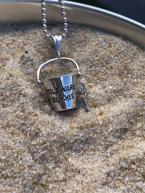 Delaware Beaches® Sand Bucket Bead Necklace