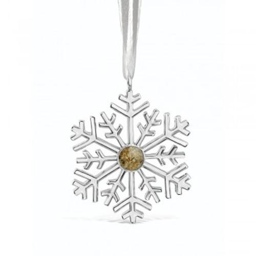 2018 Dune Silver Snowflake Ornament