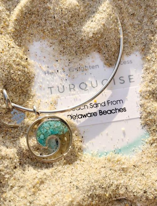 DELAWARE BEACHES® Turquoise Dune Wave Bracelet- IN STOCK