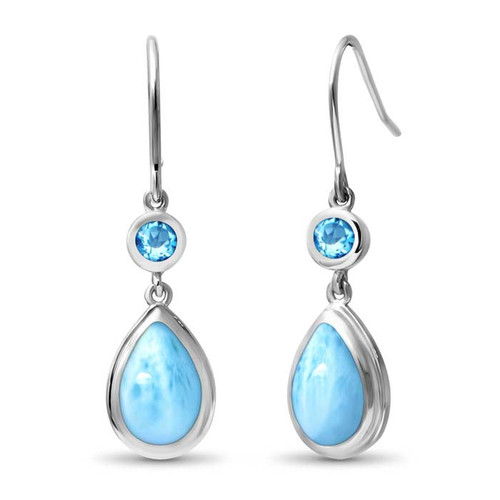 Atlantic Pear Larimar Earrings