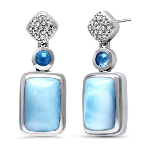 Skye Larimar Earrings