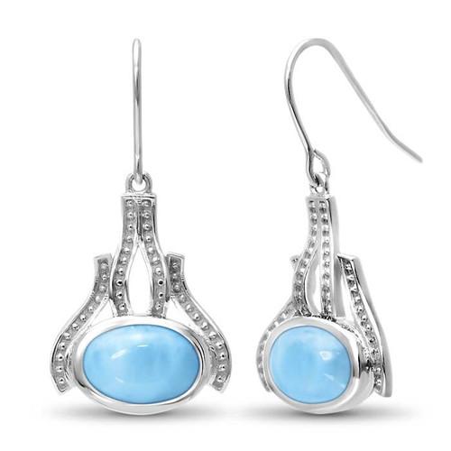 Zeta Larimar Earrings
