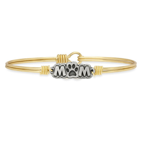 Luca & Danni Dog Mom Bangle  Brass or Silver Tone