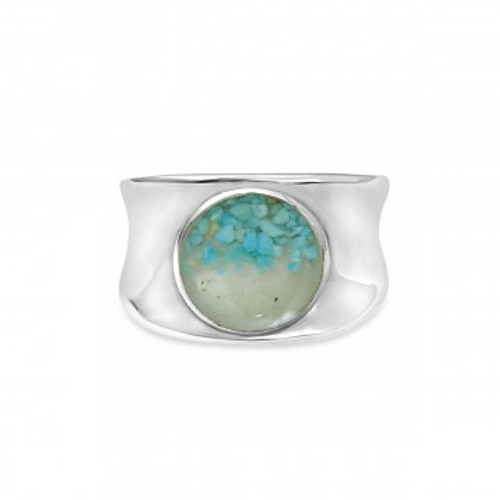 Dune Sterling Silver Bayview with GRADIENT TURQUOISE Ring