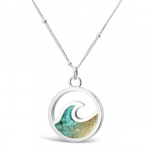 Dune Sterling Silver Cresting Wave GRADIENT Necklace