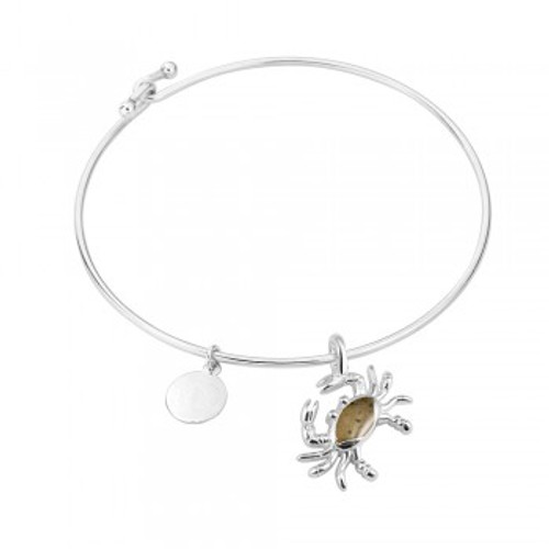 Delaware Beaches® Dune Sterling Silver Crab Bangle