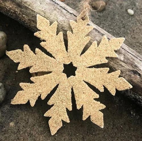 Delaware Beaches®  Beach Sand Sandy Snowflake Ornament