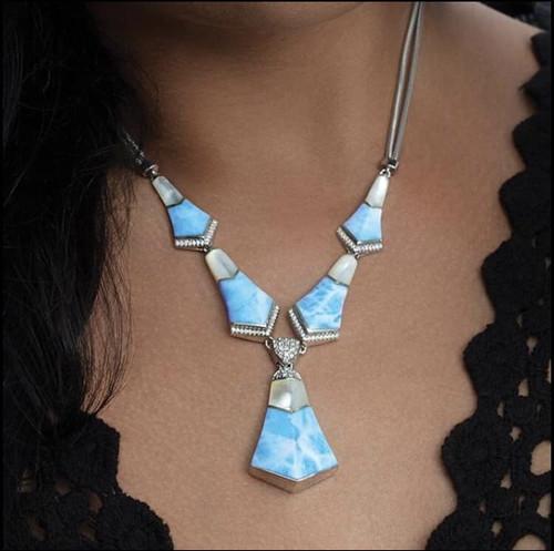 Marahlago Calder Large Larimar Necklace