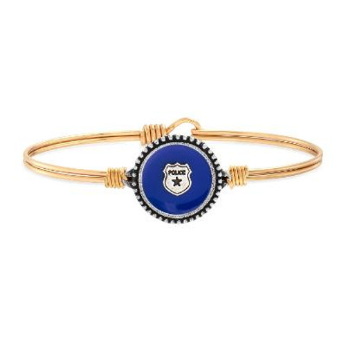 Corporal Heacook Police Bangle - BRASS (by Luca & Danni)