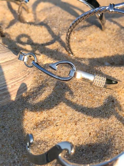 Evening Tide Sterling Silver Fish Hook Bracelet