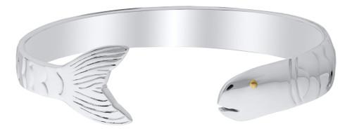 Evening Tide Sterling Silver / Vermeil Eye Fish Cuff Bracelet