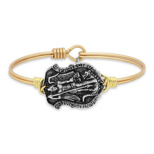 Luca & Danni Saint Michael Gold or Silver Tone Bangle