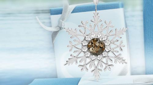 2017 Dune Gold Snowflake Ornament