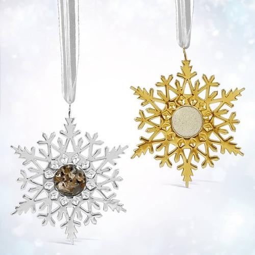 Dune Gold Snowflake Ornament